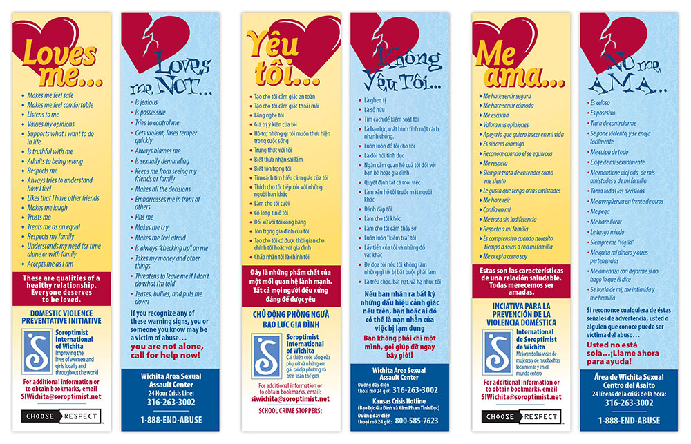 Soroptimist International Wichita - Bookmarks Detail