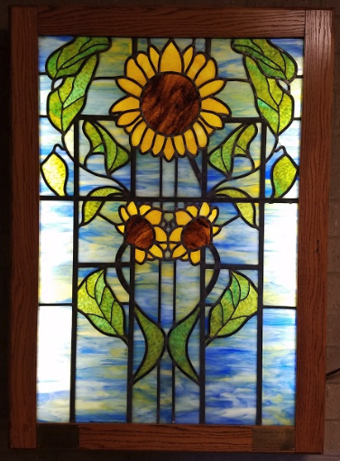 Soroptimist International Wichita - House Stained Glass Sunflower